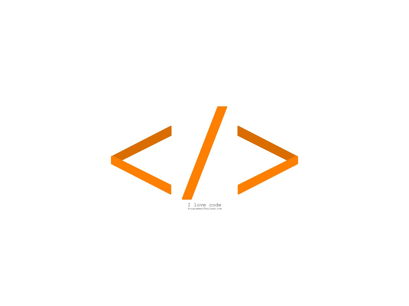 Wallpaper Programmer Thailand I Love Code
