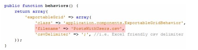 การ Export ข้อมูลแบบ CSV