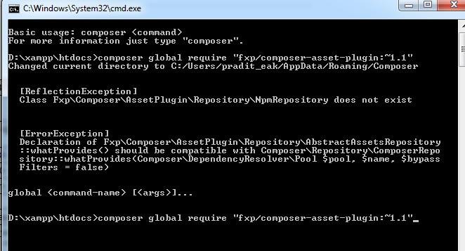การแก้ไขเมื่อเกิดปัญหา ReflectionException NpmRepository does not exist ใน Composer