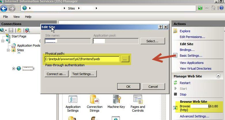 การติดตั้ง Yii2 Advanced บน Windows Server 2008
