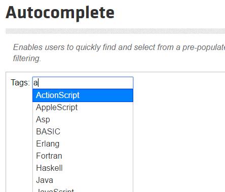 การใช้งาน jQuery UI Autocomplete ใน Yii Framework 2